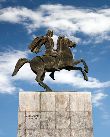Alexander the Great statue, Thessaloniki, Greece photo