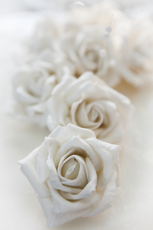 White Rose, detail of a wedding cake - Macro shot with shallow depth of field photo