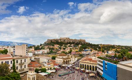 Panorama of Acropolis Parthenon, Athens - Greece Фото со стока