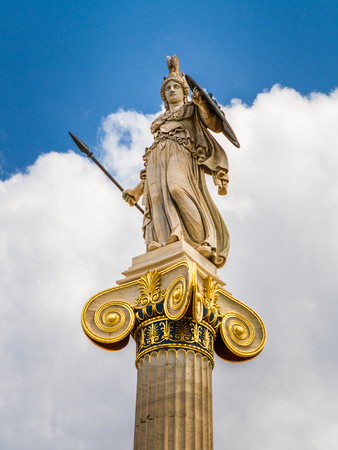 trilogy: Athena statue from the Academy of Athens ,Greece