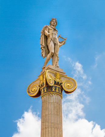 plato: Apollo statue in the Academy of Athens ,Greece