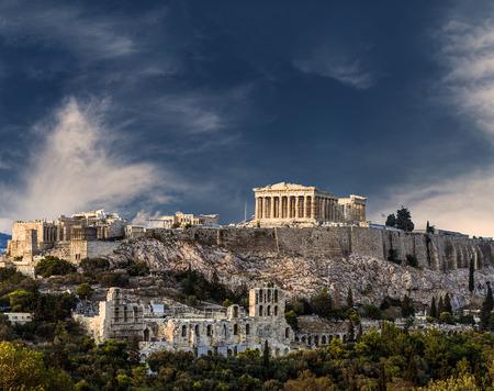 アテネのアクロポリス、パルテノン神殿のアテネ、ギリシャ