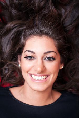 face close up: Beautiful Woman Face, Smiling, close up
