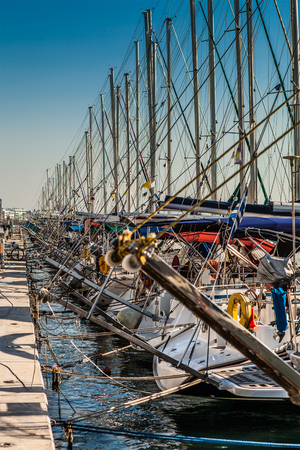 hundreds: Hundreds of Yachts at Dock, Volos Greece Stock Photo