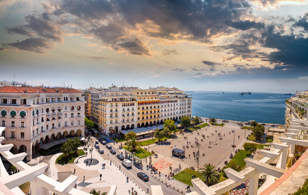 Aristotelous Square at Afternoon, Thessaloniki, Greece