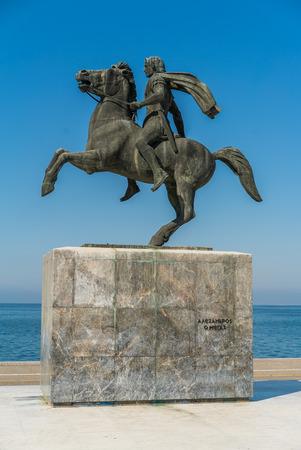 Alexander the Great statue, Thessaloniki, Greece - Vertical