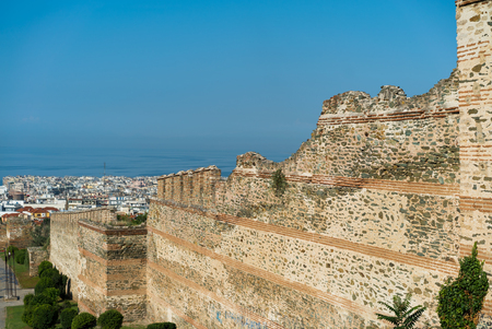 Walls of Thessaloniki, with panoramic view of the city
