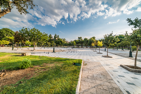Aristotelous Square and Park, at Thessaloniki, Greece Stock Photo