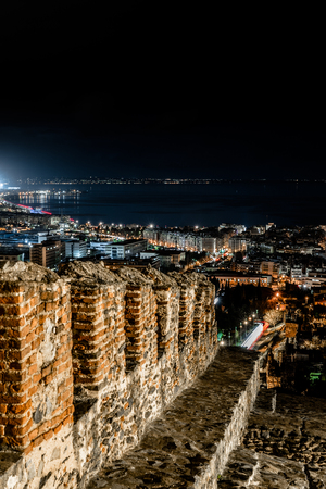 City Lights  of Thessaloniki, Panoramic View from Trigoniou Tower, Long exposure