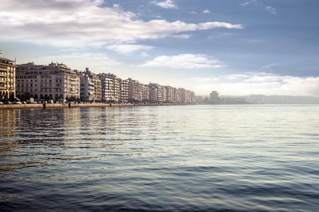 Thessaloniki City on a rather foggy morning