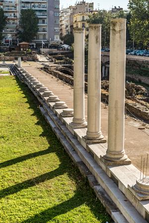 Ancient Roman Forum, at Thessaloniki, Greece