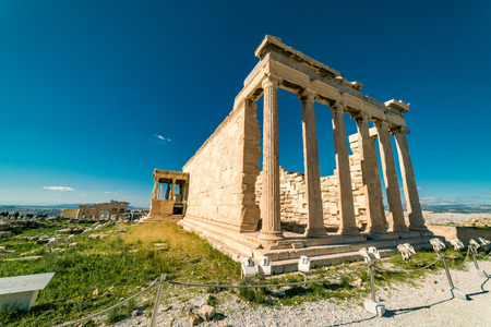 Erechtheion at Parthenon Acropolis of Athens Archaeological Place
