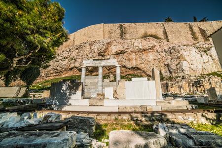 Details around Parthenon Acropolis of Athens Archaeological Place