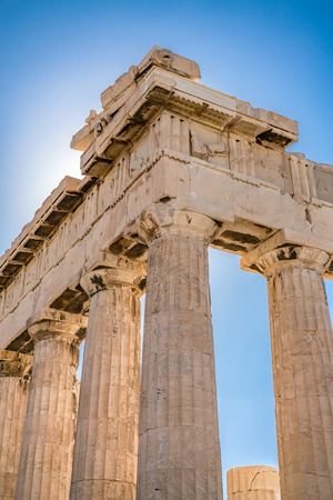Datails at Parthenon Acropolis of Athens Archaeological Place