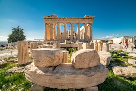 Parthenon Acropolis of Athens Archaeological Place Stock Photo