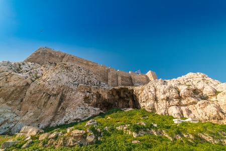 Theatre of Dionysus, near Acropolis Parthenon, Athens of Greece Stock Photo