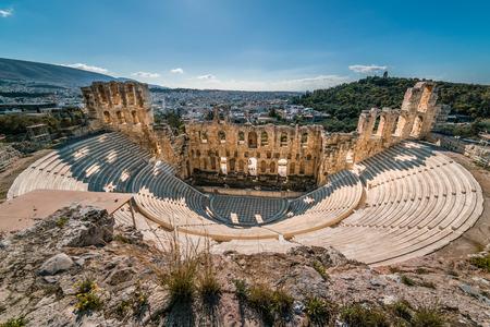 Theatre of Herodes Atticus, Acropolis of Athens, Greece Stock Photo