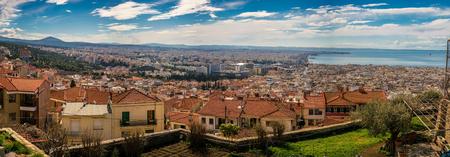 Rare Panoramic view of Thessaloniki city, Greece, High Resolution image