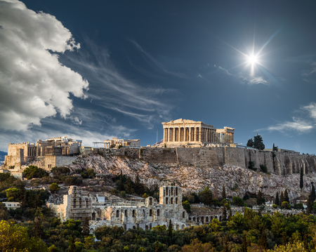 Parthenon, Acropolis of Athens on a sunny day, Summer Vacations, Greece
