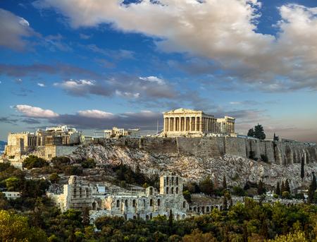 Parthenon, Acropolis of Athens, Under the sky of Greece 스톡 콘텐츠 - 98475961
