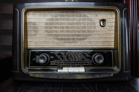 Very Old Radio, Music or news from cities all over the world Reklamní fotografie