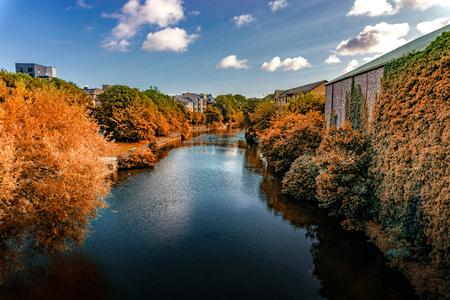 River at Edinburgh city, Scotland Uk, Traveling in Europe
