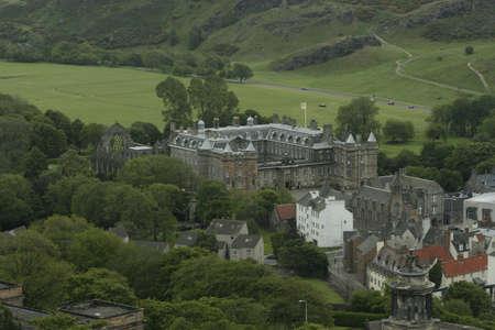 Holyrood Palace from Calton Hill, Edinburgh Scotland