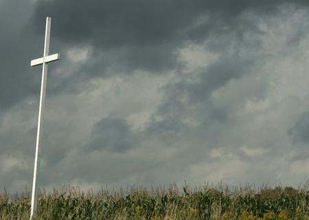 Large Cross  on Farmers Field