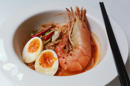 yum: Thai tom yum river prawn Stock Photo