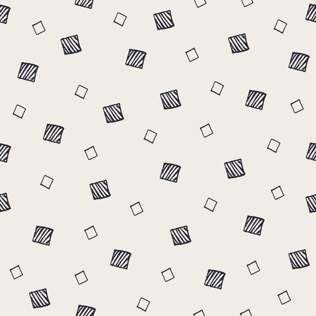 randomized: Hand Drawn Abstract Seamless Pattern with decorative randomized squares.