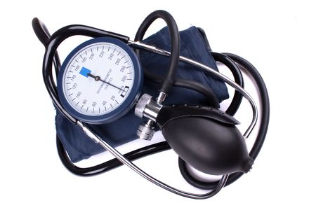Manual blood pressure medical tool isolated photo