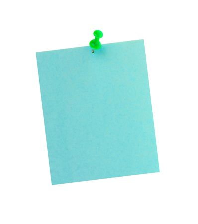 Sticker note with pin isolated on the white background Stock Photo - 6693480