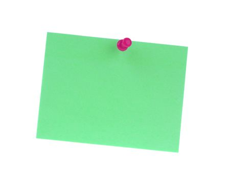 Sticker note with pin isolated on the white background Stock Photo - 6693478