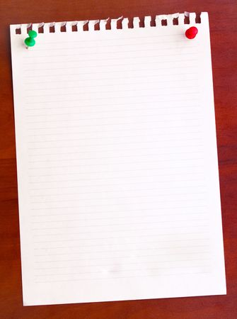 Blank sheet paper on wooden wall Stock Photo - 6693513