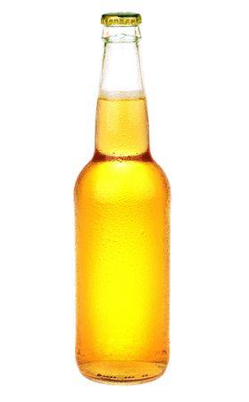 botellas de cerveza: Botella de cerveza aislado sobre fondo blanco