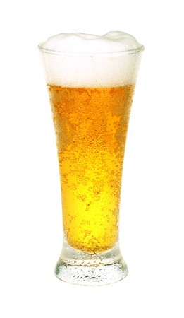 brew beer: Beer glass isolated on white background
