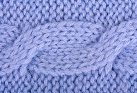 Close-up of a blue woolen pattern  photo