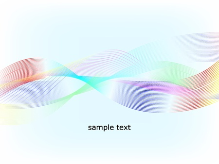 Abstract multicolored waves  background Stock Vector - 8687246