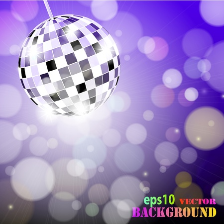Abstract disco background.   illustration Vector