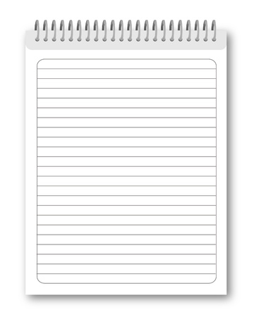 spiral notebook: Blank spiral notebook isolated on white background.   illustration