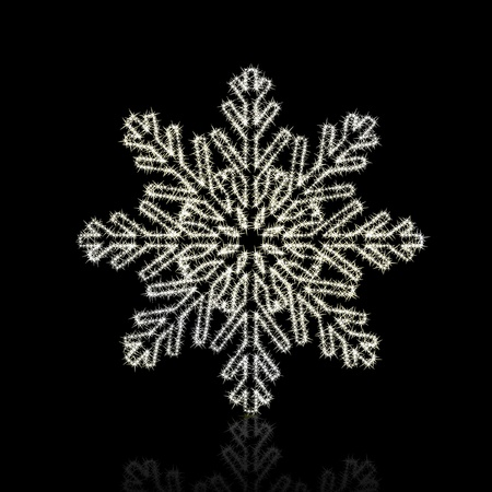 Christmas snowflake on black background. illustration Stock Vector - 8687308