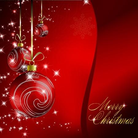 Red christmas postcard.   illustration Stock Vector - 8687314