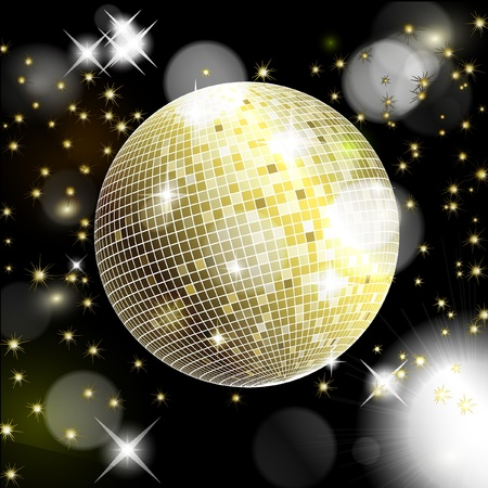 Abstract background with disco ball. illustration Vector