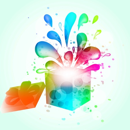 Gift box abstract background.   illustration Vector