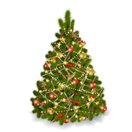 Christmas tree on white background.   illustration Stock Vector - 8687444