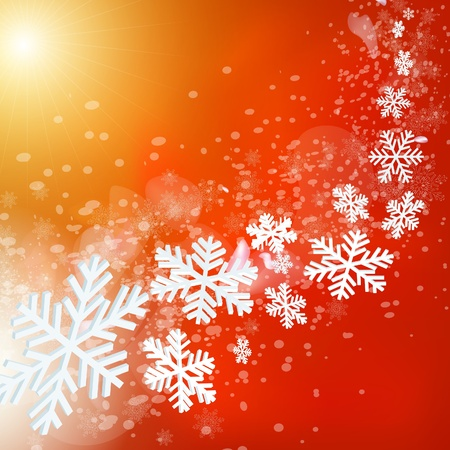 Abstract red merry christmas and new year background.  Vector
