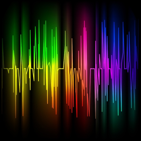 amplitude: Abstract multicolored background.  Illustration