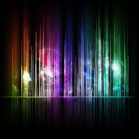 Abstract multicolored lines background. Stock Vector - 8744615