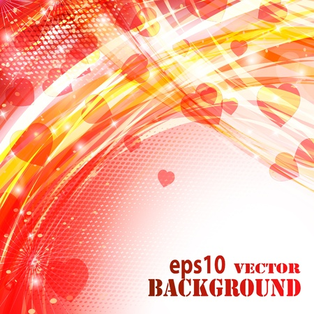 Abstract valentines day background. Vector eps10 illustration Vector