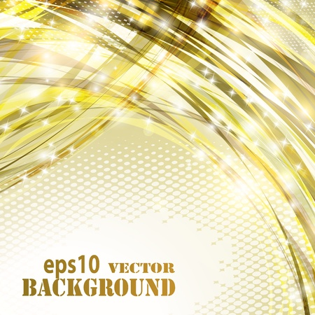 Abstract golden curves background.